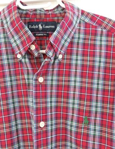 RALPH LAUREN Men's Plaid Shirt Size Large - Excellent Condition