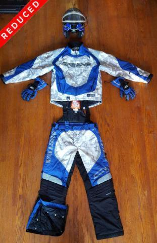 REDUCED Men's Arctiva Full Matching Blue Camo Sled Gear