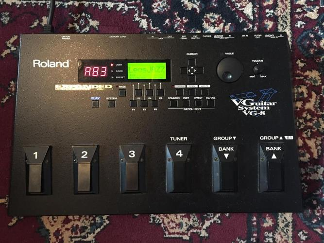 Roland VG8 Expanded Cosm guitar and amp modeling