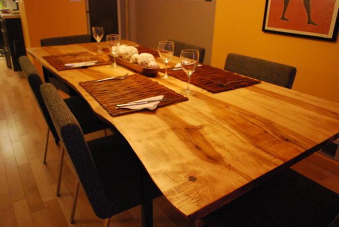 Salvaged live edge tree slab black walnut wood harvest for Live edge wood countertops