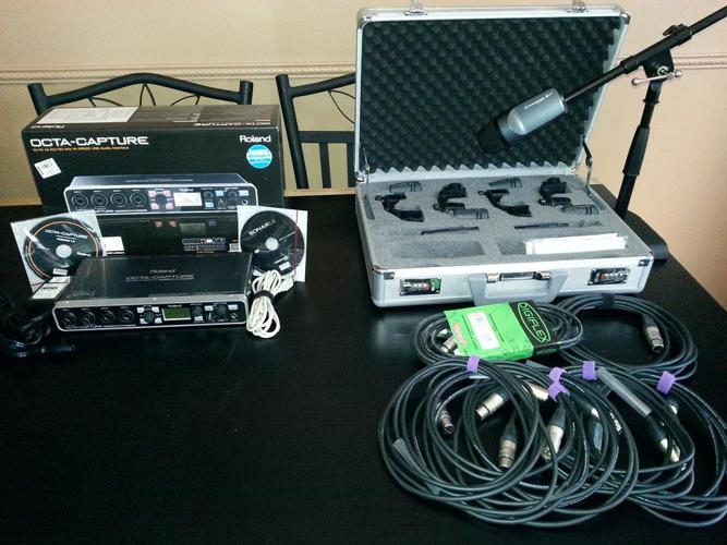 SENNHEISER 7 PC MIC KIT & ROLAND OCTA CAPTURE COMBO