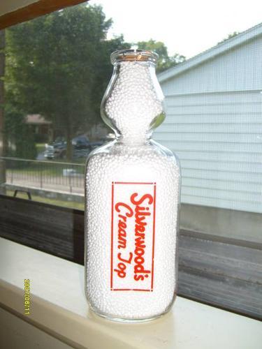 Silverwood S Cream Top Milk Bottle For Sale In Wingham