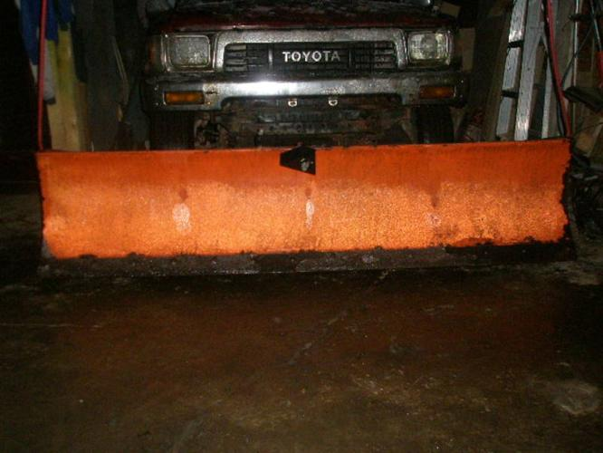 Snow Plow with Brackets and control wiring