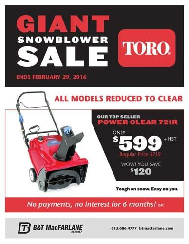 Snowblower Sale - Are you ready for tomorrow's winter storm?