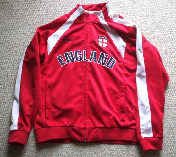 Soccer Jacket `England` by Umbro- sz. Med.- Large
