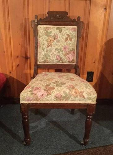 SOLID ANTIQUE OCCASIONAL CHAIR