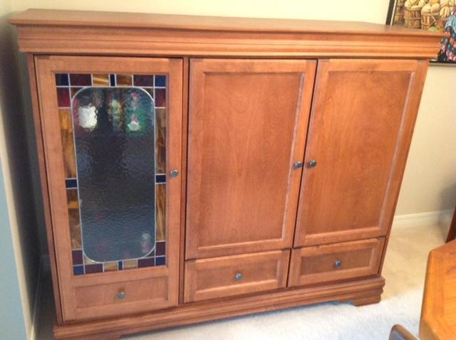 Solid Maple Cabinet/Hutch