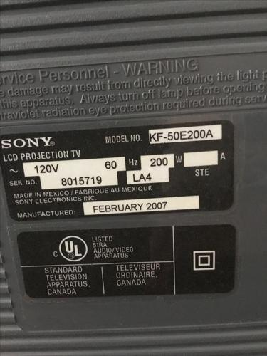 Sony LCD projection 50? TV  with stand