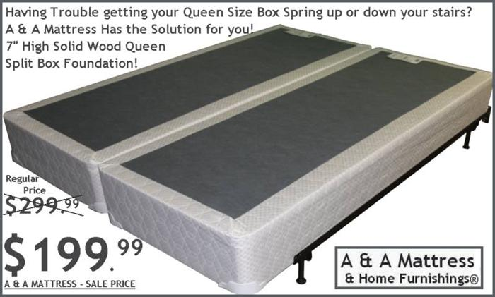 Split Queen Amp King Box Foundations A Amp A Mattress White Or