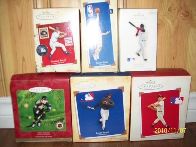 sports action figures hallmark keepsake ornaments