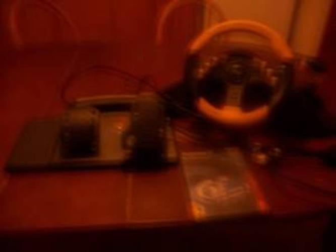Steering Wheel and Game for Sale