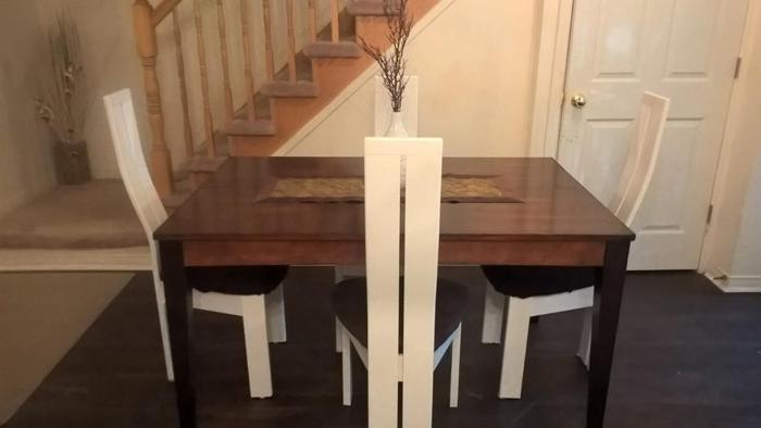 Stylish Large Solid Wood Dining Set CAN DELIVER