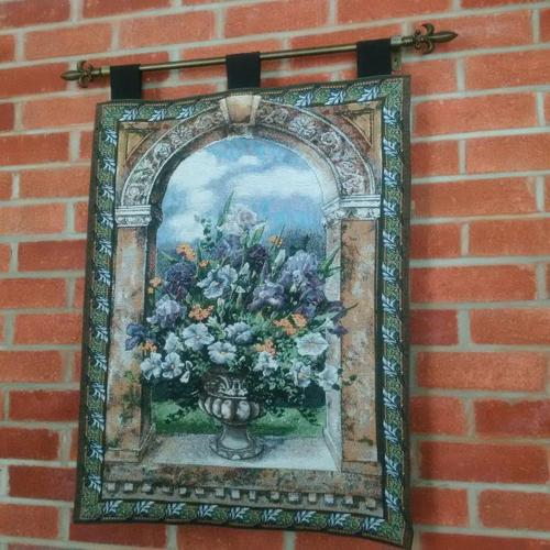 TAPESTRY WALL HANGING BLOSSOM FLOWERS