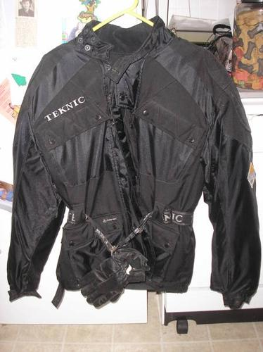 Teknic Jacket and Kevlar gloves