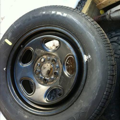 Tire and rim off intrepid