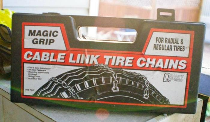 TIRE CHAINS - NEW, never used