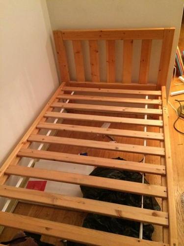 Twin Sized Oak Wood Bed Frame