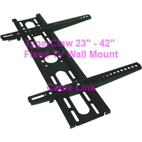 """TygerClaw Fixed Wall Mount 23"""" to 42? LCD1319BLK"""
