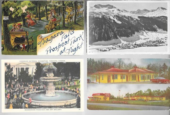 Vintage ONTARIO & CANADA postcards & photos 1910-1999 lot of 240