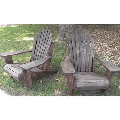 Vintage Pair of Adirondack Chairs