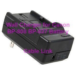 Wall Charger for Canon BP-808 BP-827 Battery