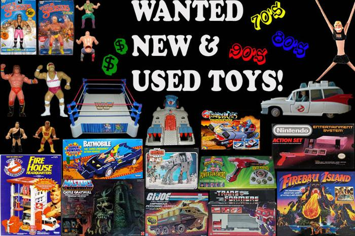 Wanted: WANTED: 1950's-1990's - Action Figures, Toys &