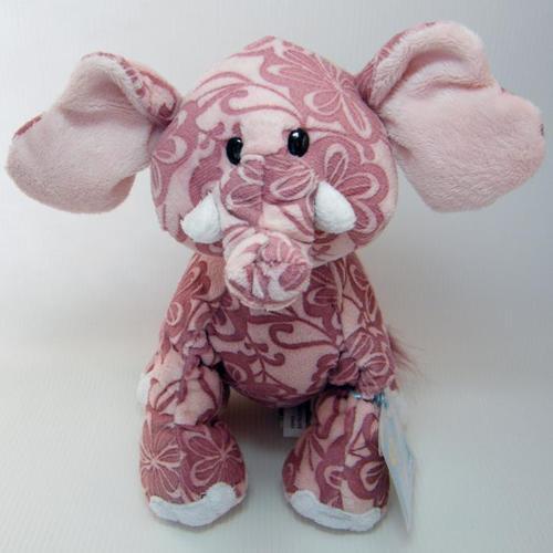 Webkinz BATIK ELEPHANT Etched Plush Pink Floral Sealed Code HM458 New!