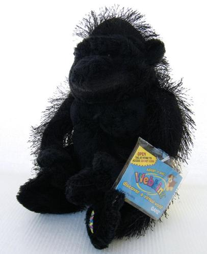 Webkinz GORILLA HM040 by Ganz, Sealed Code, New with Tags