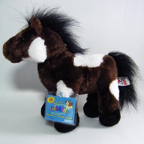 Webkinz PINTO Pony Stuffed Plush Horse Brown & White Spots HM147 Sealed Code