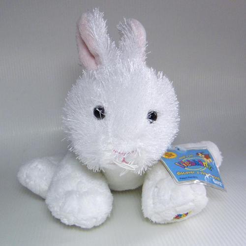 Webkinz RABBIT White & Pink Ears Plush Bunny HM078 NEW Sealed Code