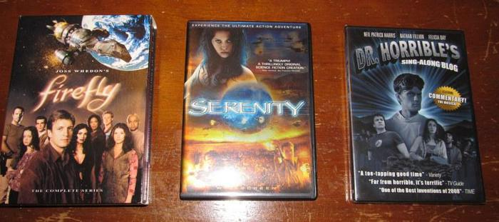 WHEDON LOVERS! Firefly DVD Box Set + Serenity movie + Dr. Horrible