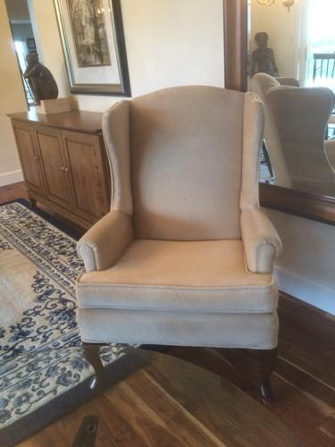 WINGBACK CHAIRS AND COFFEE TABLE