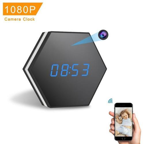 Wireless Wifi IP 1080P HD Premium Hexagon Shape Clock Camera Hidden