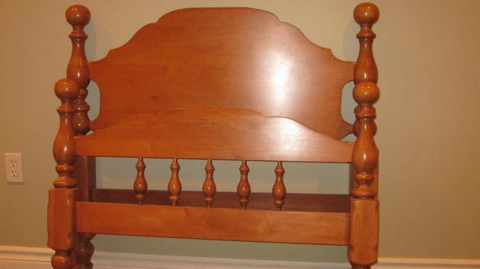 Wood Single Bed Frame and Rails