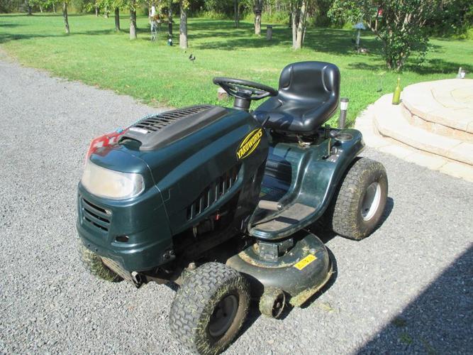 yardworks riding lawn tractor