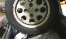 14 inch rims off a early rx7. Mazda. 2 good rubbers, 2 poor rubbers. This ad was posted with the Kijiji Classifieds app.