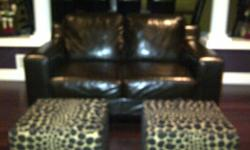 LEATHER COUCH AND MATCHING LOVE SEAT - CHOCOLATE BROWN.  VERY GOOD CONDITION - PAID AROUND $2000 FOR THE SET.  WOULD LOOK GREAT IN ANY LIVING ROOM!