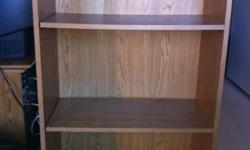 Three shelf bookcase, good condition.