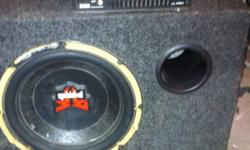 Great sub something cheap and easy to get a little bass in your ride. Never been abused or overpowered. Ready to plug in and rumble. This ad was posted with the Kijiji Classifieds app.