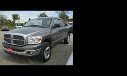 QUAD CAB, 199500km, HEMI, 5.7, V8, 4X4, VERY NICE TRUCK, 20 inS RIMS, SALE PRICE $11,995 CERT E-TEST, CALL DAVE 519-872-7888Listing originally posted at http://www.autotrader.ca/a/Dodge/Ram