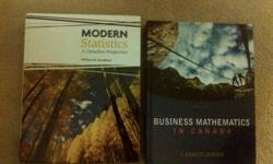 Modern Statistics: A Canadian Perspective W Data Cd Author: William M. Goodman ISBN: 9780176251796 ISBN 10: 0176251790 Condition: Excellent..Like New Price $120 Business Mathematics In Canada Seventh Edition Author: F. Ernest Jerome ISBN: 9780070009899