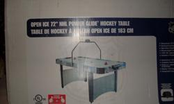 has electronic overhead scoring2 pucks and 2 paddlesvalued over 250.00