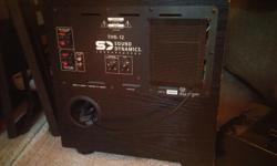 Sound Dynamics THS-12 100 W RMS 400 W peak has both line level and speaker level inputs