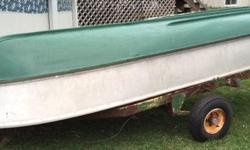 For sale 12' aluminum boat. $375 OBO. Please email for more information.