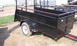 """"""" Winter Blow Out Sale,"""" 2011 Mirage 6x12sa Landscape trailer, 1-3500lb axle, Dry weight-1115, Payload-1875lbs, Deck height-21 1/2"""", 72"""" bed, 3"""" angle frame, 2k front jack, 15"""" tires on White wheels, 48"""" tall expandable rear ramp gate, LED lights, 24"""""""