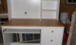 heavy wood desk & chair excellent condition, $130 or best offer