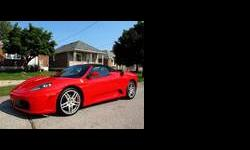CALIBER AUTO LTD. IS VERY EXCITED TO OFFER FOR SALE THIS BEAUTIFUL FERRARI F430 SPIDER PRESENTED IN RED WITH A RED INTERIOR, THIS IS A ONE OWNER TORONTO CAR, NO PREVIOUS DAMAGE OR ACCIDENT HISTORY, BOTH CARFAX AND CARPROOF VERIFIED, THIS CAR IS EQUIPPED