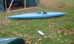 i have a match pair of 13 1/2 foot river runner R5 kayaks. in pretty good shape. kept indoors. comes with 4 sets of paddles and spray skirts 725 for the pair 541 0079  or 312 0286