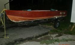 300 obo, located in new liskeard, three bench seats, middle opens. small leak. boat only for sale.