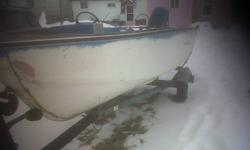 i have a 14  foot aluminum boat with trailer and a 50 evenrude,,the motor does run but needs a solinoid,,there is no leaks and comes with a manual and some accessaries,,call any time,,moving so must go,